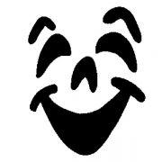 MS 20 Трафарет для капучино улыбка Martellato