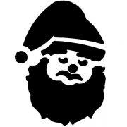 MS 22 Трафарет для капучино Дед Мороз Martellato