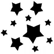 MS 9 Трафарет для капучино Звёзды Martellato