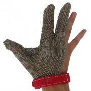Перчатка кольчужная 3-палая с ремешком на кнопке, изготовление нержавеющая сталь, Niroflex Easyfit