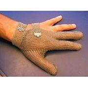 Перчатка кольчужная 3-палая с металической застежкой, изготовление нержавеющая сталь, Niroflex 2000