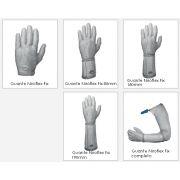 Кольчужная перчатка 5-палая с отворотом 8 см саморегулируемая система крепления при помощи пружины из нержавеющей стали, Niorflex Fix