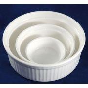 """S0756 Форма для запекания 2,5"""" (6см, 80мл), Altezoro, посуда имеет белый теплый оттенок."""