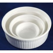 """S1146 Форма для запекания 5,5"""" (14см, 380мл) Altezoro, фарфор белый теплый оттенок."""