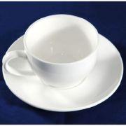 S3958+S2185 Чашка с блюдцем 90мл Altezoro, фарфор белый теплый оттенок.