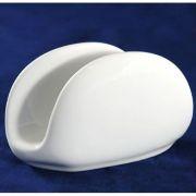 S4800 Подсалфетник 12х4,5х8см Altezoro, фарфор белый теплый оттенок.