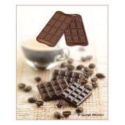 SCG11 Форма силиконовая для шоколада плитка 38х28х4,5 мм производитель Silikomart