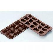 SCG23 Форма силиконовая для шоколада зима 33х27х15 мм производитель Silikomart