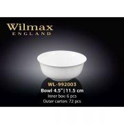 Wilmax салатник круглый 11,5см WL-992003 в упаковке 6 шт, цена за 1 шт