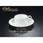 Wilmax чашка кофейная и блюдце 100мл арт - WL-993002 в упаковке 6 шт, цена за 1 шт