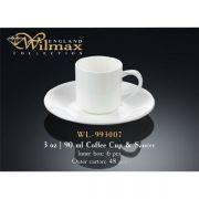 Wilmax чашка кофейная и блюдце 90мл арт - WL-993007 в упаковке 6 шт, цена за 1 шт