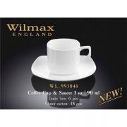 Wilmax чашка кофейная и блюдце 90мл арт - WL-993041 в упаковке 6 шт, цена за 1 шт