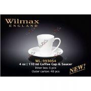 Wilmax чашка кофейная и блюдце 110мл арт - WL-993054 в упаковке 6 шт, цена за 1 шт