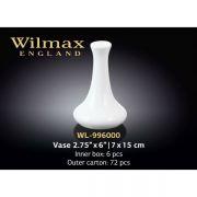 Wilmax ваза 15x7см арт - WL-996000 в упаковке 6 шт, цена за 1 шт