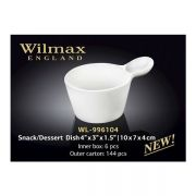 Wilmax емкость для закусок/десертов 10x7x4см WL-996104 в упаковке 6 шт, цена за 1 шт